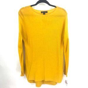INC Shirttail Sweater Polished Gold XS